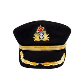 9865e33c9aefe Navy Marine Yacht Boat Ship Sailors Navy Captain Military Cap for Adult or  Children Sailors Cosplay Military Adjustable Bonnet XL