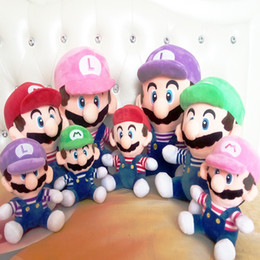 video game stand Australia - Super Mario Bros Stand Luigi Mario Plush Toys Soft Stuffed animals Dolls for Kids toys christmas Gifts 10 inch 25 cm