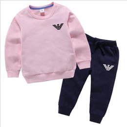 Discount dragonfly clothing - 2019 Children's clothing boy long-sleeved suit new baby infant children's clothes two-piece set 2-8T years old