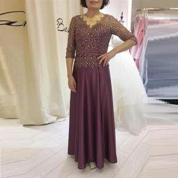 3d45f1cbaa267 Plus Size Mother of the Bride Dresses Vestidos Madre De La Novia V Neck  Long Evening Dresses With Applique Long Sleeves Hot Sale