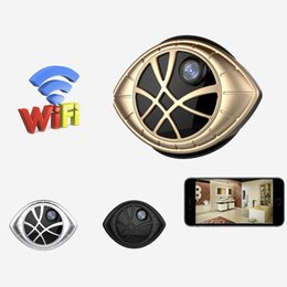 Indoor Motion Detection Camera NZ - New 720P Mini Magnetic WiFi Camera Wireless IP Security DVR Eye Shape Camera Nanny Cam with Motion Detection for iPhone Android Phone View
