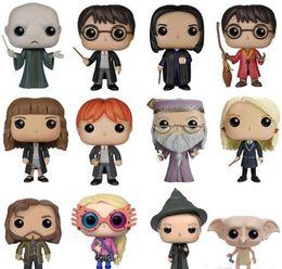 Toptan satış Funko Harry Potter Eylem Şekil Sirius Black Voldemort'un Dumbledore'un Luna Snape Hemione Ron Quidditch Harry pop