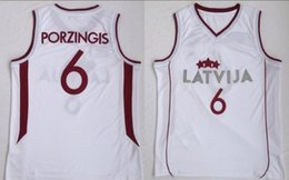 College Latvija Basketball 6 Kristaps Porzingis Jersey Men White Team Color  For Sport Fans University Breathable Free Shipping 0db5a0d58
