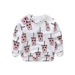 Grils Shirts Australia - New Fashion Spring Boys Grils Tops Children's Hoodies Drink Pattern T-shirt Pants Clothes Kids Cotton High Quality Clothes J190611