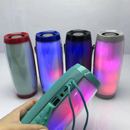 Wholesale TG157 Portable LED Lamp Speaker Waterproof Fm Radio Wireless Boombox Mini Column Subwoofer Sound Box Mp3 USB Phone Computer Bass DHL