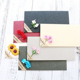 10pcs Retro Vintage Blank Bow Paper Envelopes For Letter Greeting Cards Wedding Party Invitations Postcard New Varieties Are Introduced One After Another Mail & Shipping Supplies