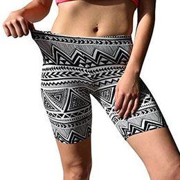 $enCountryForm.capitalKeyWord Australia - KLV Womens Print Sport Pants Sport Leggings High Waist Sports Pants Gym Clothes Brushed Active Stretch Yoga Bike Short #C