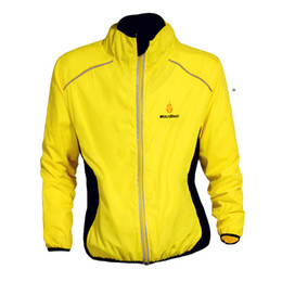 High Visibility Motorcycle Australia - Yellow Running Cycling Riding Motorcycles High Visibility Reflective Jacket Long Sleeve MOTO Off-Road Warning Vest Protection Gear Wind Coat