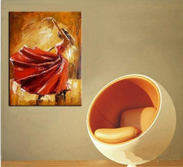 flamenco dancer oil paintings 2019 - Spain Dancer Dancing,Hand Painted contemporary Spanish Flamenco Dancer Wall Decor Art Oil Painting On Canvas.Multi sizes