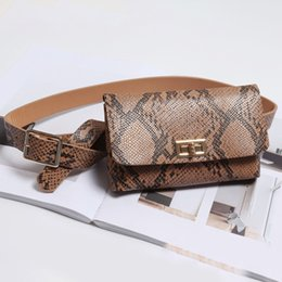 $enCountryForm.capitalKeyWord Australia - Party Women Waist Bag Retro PU Leather Daily Dating Adjustable Travel Serpentine Portable Removable Belt Animal Print Shoulder
