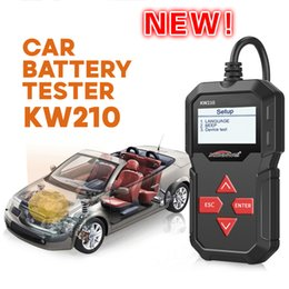 Wholesale New Upgradeable Printing Konnwei Kw210 Automobile Battery Test Battery Capacity Resistance Battery Tester
