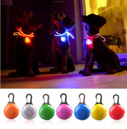 Chirstmas Led Lights Australia - LED Flashlight Dog Cat Collar Glowing Pendant Night Safety Pet Leads Necklace Luminous Bright Decoration Collars For Dogs GB243