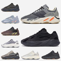 Discount kanye west new sneakers 2020 New Women Mens Running Shoes Kanye Magnet Inertia Static Vanta Mauve Tephra West Trainers Sports Sneakers Size 36-4