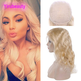 Blonde virgin hair lace front online shopping - Malaysian Human Hair Lace Front Wig Blonde Color Body Wave Virgin Hair inch Lace Front Wig Hair Products