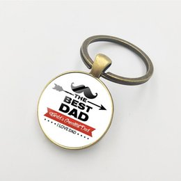 $enCountryForm.capitalKeyWord Australia - European and American new glass dome alloy keychain Super papa Best Dad Ever wholesale sale Father's Day gift