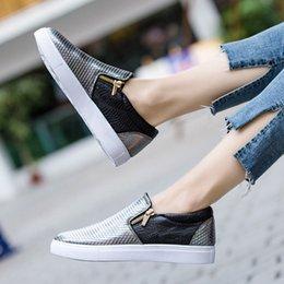 2019 New Women Single Shoes Double Zipper Lazy Snake Pattern Waterproof Women  Shoes Casual Flat Bottom Non-slip Size 36-41 c8110117b1b