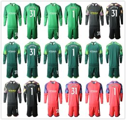 $enCountryForm.capitalKeyWord Canada - 2019 2020 Long Sleeve Adults City Soccer Jerseys C. Bravo Goalkeeper Jersey #1 C. Bravo #31 Ederson M. Men Uniforms Football Sets