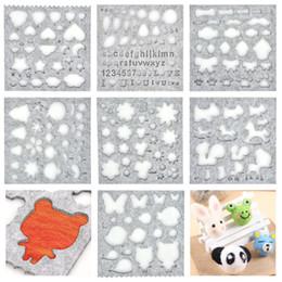 $enCountryForm.capitalKeyWord UK - Wool Felt Mold Needle Felting Molds DIY Craft Stencil Applique Mold Sewing Accessories Felt Starter Kit Pattern Woolcraft Supply