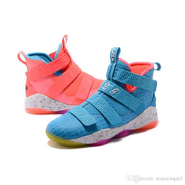 31298f92bc6 Cheap What the Lebron soldier 11 shoes mens basketball for sale Christmas  BHM Oreo youth kids sneakers with original box Size 7 12