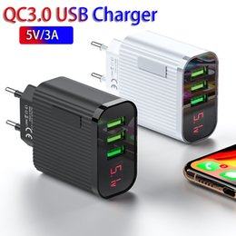 usb wall charger display Australia - QC3.0 USB Charger 3 Port USB 3A Smart Fast Charger Digital Display Phone Travel Wall Charger Adapter For iPhone Samsung Xiaomi