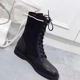 heavy duty springs NZ - Fashion Designer Women Boots Best Quality Star Trail Lace-up Ankle Boots With heavy-duty soles leisure lady boots By toy99 HL2410