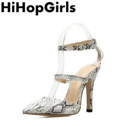 Serpentine Buckle NZ - Dress Hihopgirls 2019 Summer Rome Serpentine Buckle Pumps Women Sandals Sexy High Heels Fashion Pointed Fine With Party Woman Shoes