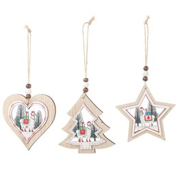 Sheep pendant necklace online shopping - Christmas Decoration Christmas Tree Hanging Decoration Love Pentagram Pendant Fashion Geometric Sheep Necklace Alpaca Pendant