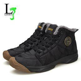 $enCountryForm.capitalKeyWord Australia - Men Snow Boots Waterproof Winter Warm Shoes Men Sneakers Fur Botas Ankle Canvas Boots Outdoor Lace Up Big Size 48 Zapatos Hombre
