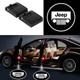Ingrosso 2 pezzi senza fili universale del portello di automobile LED benvenuto del portello di automobile LED proiettore Ombra della luce laser di marchio dell'automobile senza fili di benvenuto del portello per tutte le vetture