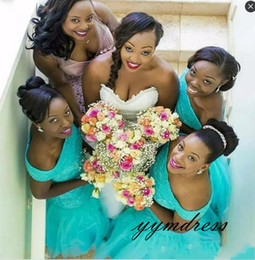 Turquoise Black Maid Honor Dresses Australia - Cheap 9 Mermaid Long Bridesmaid Dresses 2019 Off Should Turquoise Mint Tulle Lace Appliques Plus Size Maid of Honor Bridal Party Gowns