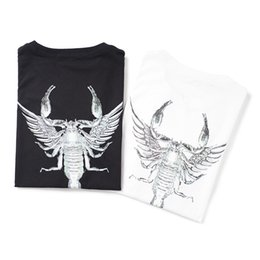 Best Shown UK - 2019 latest HOT best Quality Scorpion print Fashion show from Milan Summer clothes Short sleeved Fashion Trend JOKER T-SHIRTS TOPS