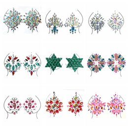 Gems stickers online shopping - Diamond Adhesive Sticky Gems Sticker Makeup Face Boob Jewel Crystal Festival Gems Party Makeup Stickers For Body Art Styles RRA1463