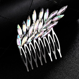Bridal Hair Comb Clip Rhinestone Australia - Colorful Rhinestones Hair Comb Clip Wedding Bridal Alloy Hair Pins Women Jewelry Styling Brush Girl Female Colorful 2019 Gifts