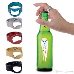 Beer finger ring opener online shopping - Colorful Stainless Steel Beer Bar Tool Finger Ring Bottle Opener Beer Bottel Favors Kitchen Bar Tools Accessories