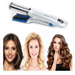 straighten curling iron Australia - New Blue Color Beauty Hair Iron 2-Way Rotating Curling Iron 360 Degree Hair Straighten Device for Drop Shipping free shippingMX190926
