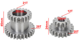 $enCountryForm.capitalKeyWord NZ - 2pcs High&low Metal Transmission gear T29xT21&T20xT12 SIEG C2&C3 Metal Lathe Main shaft duplicate double gear