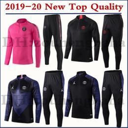Discount paris tracksuit - 2019 2020 PSG MBAPPE soccer training suit long sleeve 19 20 paris Survetement maillot de foot sportswear set football tr