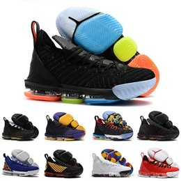 black color gold Australia - Mens lebron Shoes 16 basketball shoes Multi color Fruity Pebbles Gold Black Purple Leopard Red Boys Girls Women youth kids sneakers boots