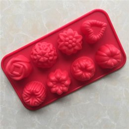 $enCountryForm.capitalKeyWord Australia - 8 Hole Flowers Grass Silicone Cake Mold Silicone Jelly Mousse Mold DIY Baking Cold Handmade Soap