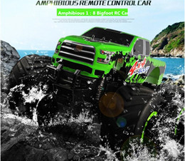 Green Truck Cars Australia - New Arriving 9119 1:8 Amphibious Vehicle RC 4WD 6 direction monster Truck RC Rock Crawler RTR OFF-ROAD Truck Drifting Car