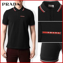 Wholesale 2019 Sales Famous Business men shorts sleeve Polo shirts Popular Cotton embroidery Wheat Polos Custom Designer made Dress shirts religions