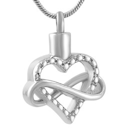 Hollow angel pendants online shopping - IJD9535 Stainless Steel Elegance Infinite LOVE Heart Shaped Silver Hollow Cremation Keepsake for Ashes Urn Pendant Necklace Jewelry