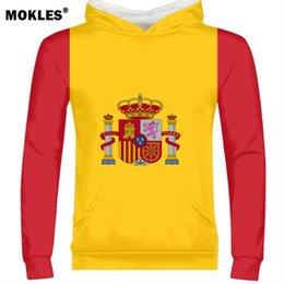 ESPAÑA hombre diy nombre personalizado por encargo número esp sudadera  bandera de la nación es español país universidad imprimir foto logo texto  ropa 04db1108910