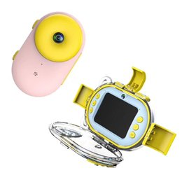 $enCountryForm.capitalKeyWord Australia - Newest 8.0MP Kids HD Digital Camera 2.0Inch LCD Front and back Double Lens Doughnut Mini Waterproof Camera DV best Children gift