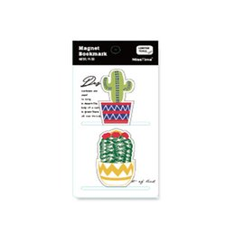 $enCountryForm.capitalKeyWord Australia - Cactus Series Magnet Bookmark Small Fresh Plant Modeling Double-Sided Color Pattern Mini Page Folder Metal Gifts