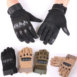 Bicycling Gear Australia - Gear Tactical Combat Army Gloves Men Winter Full Finger Paintball Bicycle Mittens Shell Protect Knuckles Military Gloves