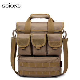 handbag tactical NZ - Men Outdoor Tactical Bag Molle Messenger Bags Military Camouflage Single Shoulder Belt Sack For Sports Toolkit Handbag XA158WA T190922
