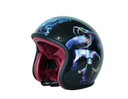 China Motorcycle Helmet For Harley Retro Chopper 3 4 Open Face Vintage Helmet Moto Casque Motocicleta Capacete Helmets Skull Python cheap helmet chopper suppliers