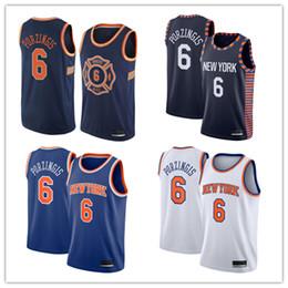 41a5e6083 2018-2019 New York Men s Knicks jersey Swingman Basketball Jersey 6  Kristaps Porzingis