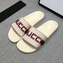 best beach sandals 2019 - Fashion leather slide sandals slippers men women 2018 Hot tiger Designer flower printed unisex beach flip flops slipper